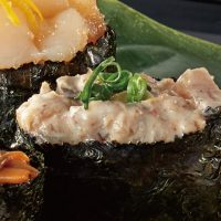「蛋黃醬拌鰹魚和鰹魚屑」軍艦卷
