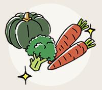 イラスト:旬のおいしさと栄養をそのままに季節を問わない!
