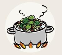 イラスト:下処理してあるから調理時間がスピーディ!